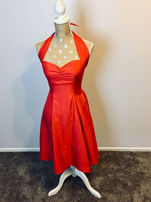 Heart of Haute Coral Flare Dress (SMALL)