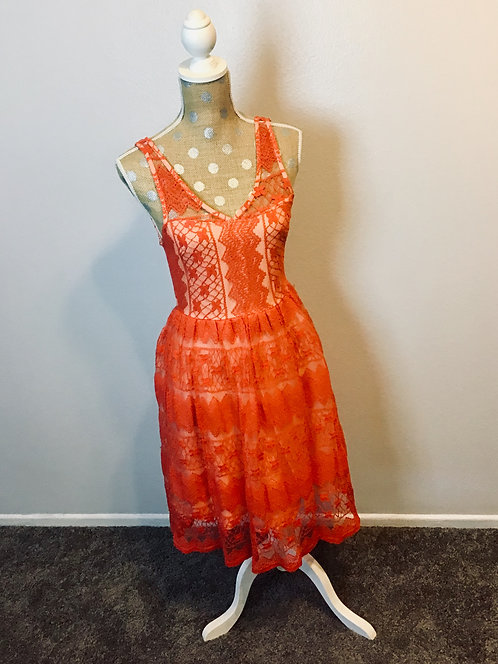 Apricity Coral Dress (SMALL)