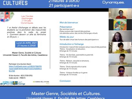 """3 ème atelier """"le cercle des débatteurs"""" – Echanges avec les étudiants de Casablanca."""