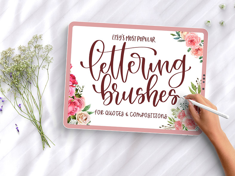 Pack of 7 Most Popular Procreate Lettering Brushes