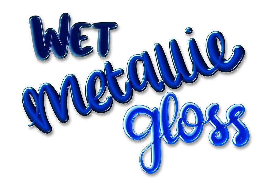 Wet Metallic Procreate Brushes | 12 Brushes for iPad Lettering