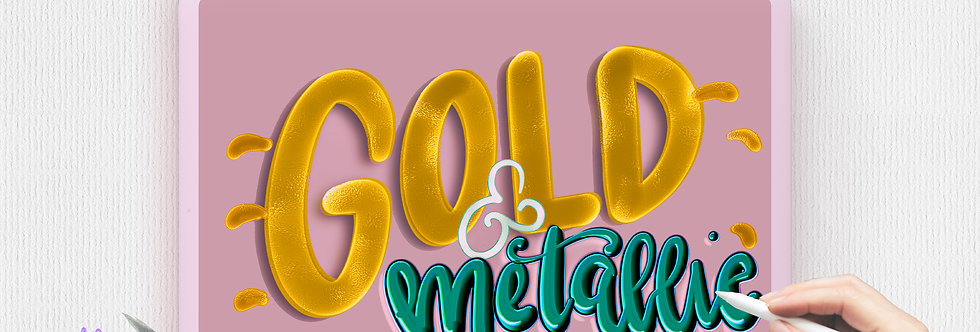 Metallic Gold Procreate Brushes