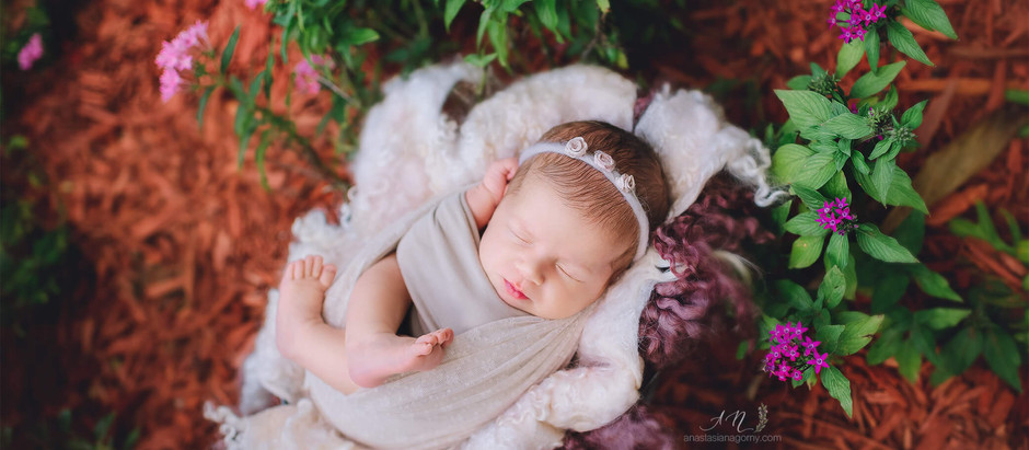 MIAMI NEWBORN PHOTOGRAPHER BABY GIRL