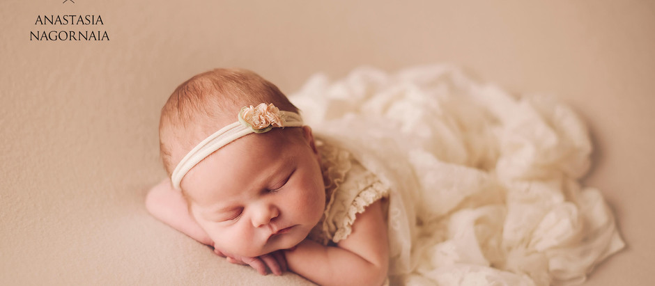 Newborn photo session for princess Alisia