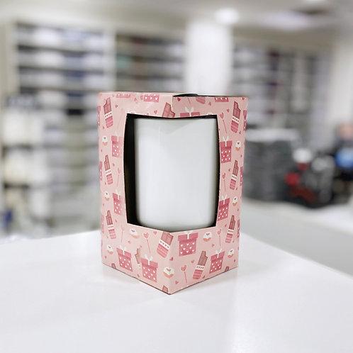 Caja para jarros c/ ventana sublimable