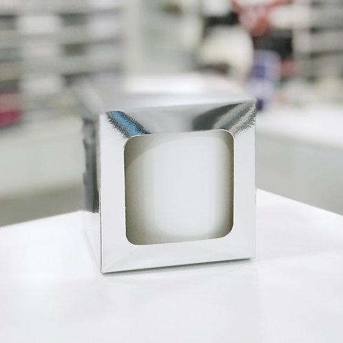 Caja para taza plateada c/ventana sublimable