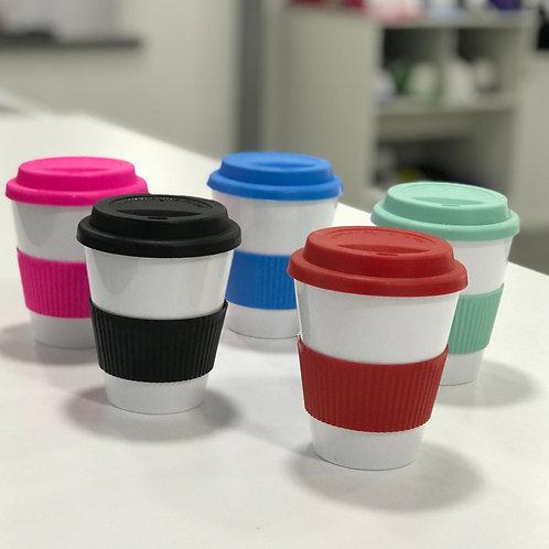Vaso térmico con tapa y agarre de silicona Polymer