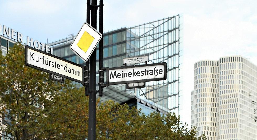 Street Sign Ku'damm Meinekestr. Charlottenburg