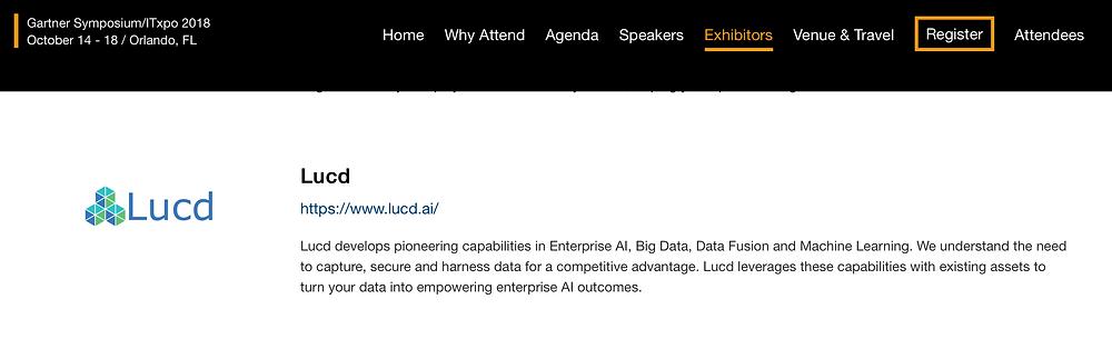 Lucd Gartner Symposium ITExpo 2018