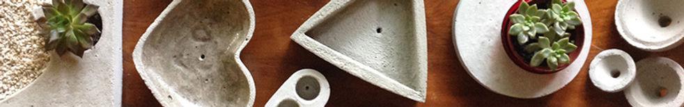 Objeto de decoração em concreto. Vasos criativos. Design, concreto e cimento. Suculentas.
