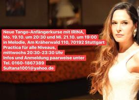 Neu ab 19.10.20 ! Tangokurse mit Irina