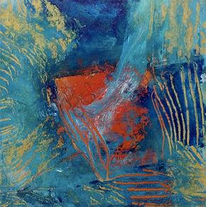 Tableaux abstraits de l'artiste Peintre Hélène Lessard