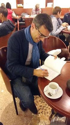 Claude-Alexandre Simonetti - Dédicaces à la librairie Dialogues de Brest - France - le 26 juillet 2017
