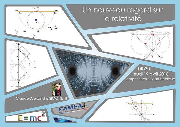 Conférence sur la relativité de Claude-Alexandre Simonetti à l'EAMEA le 19 avril 2018