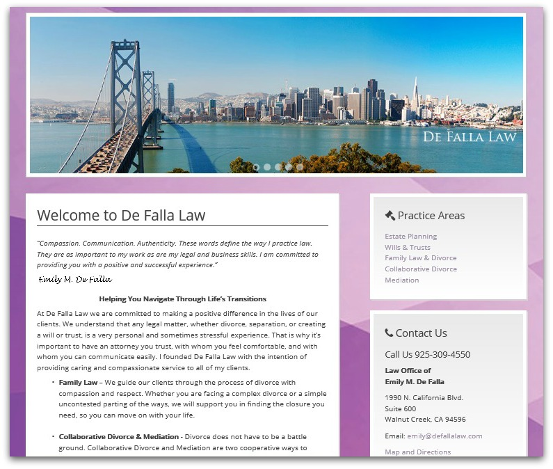 De Falla Law Website