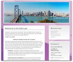 De Falla Law Website