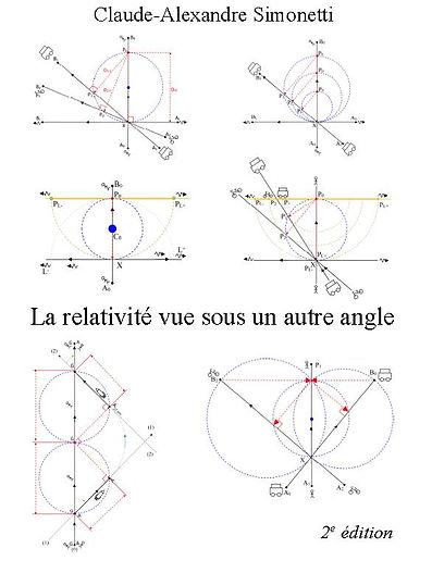"""Livre """"La relativité vue sous un autre angle"""", 2ème édition, 2015, de Claude-Alexandre Simonetti"""