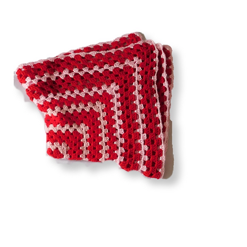 Baby Red Crochet Blanket