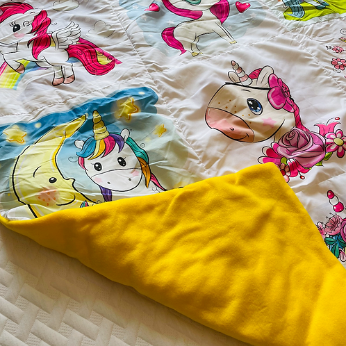 Yellow Pony Throw Blanket