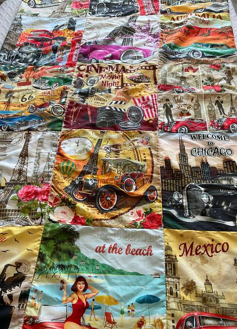Around the World Throw Blanket