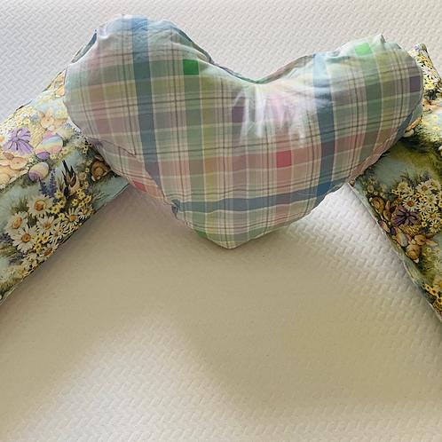 Easter Blue Garden Bunnies Throw Blanket Set