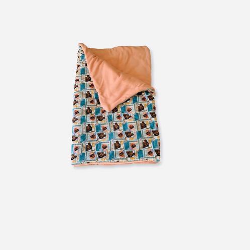 Peach Moana Toddler Throw Blanket