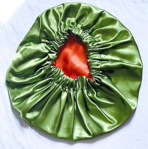 Evergreen Satin Bonnet