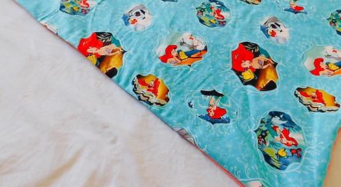 Toddler Mermaid throw blanket