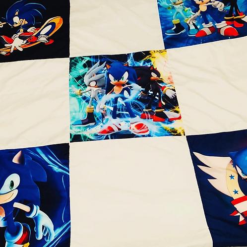 The Hedgehog Block Pattern Throw Blanket
