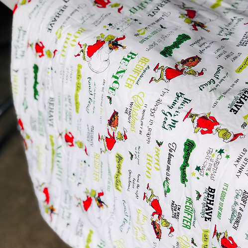 Toddler 'The Grinch' throw blanket