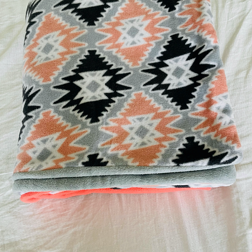 Fleece Pattern Toddler Throw Blanket