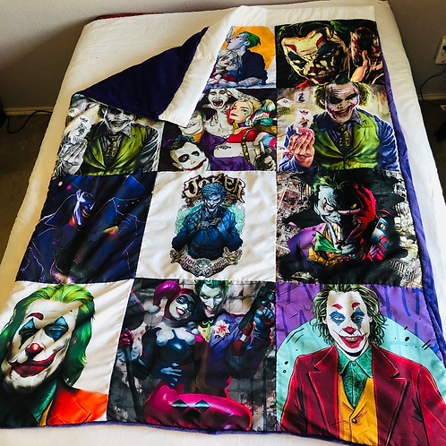 Joker P. Fleece Throw Blanket