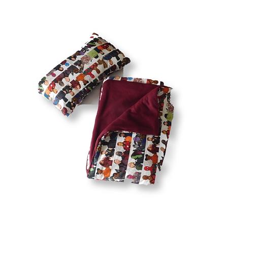 Toddler Marvel Blanket w/ Mini Pillow