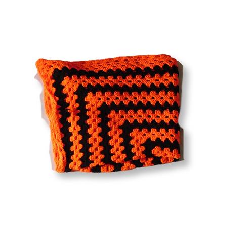 Baby Orange Crochet Blanket