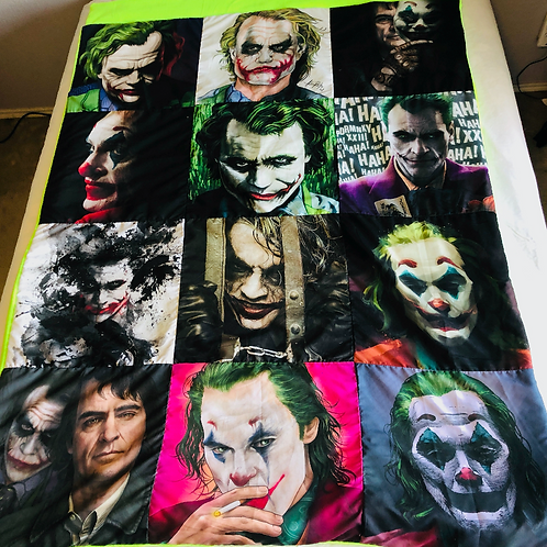 Joker G. Fleece Throw Blanket