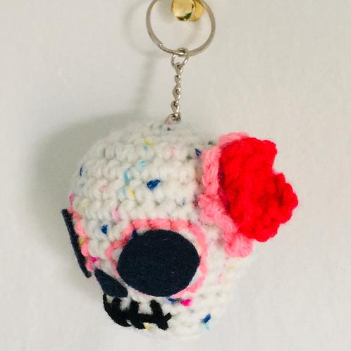 Traditional La Muerte Crochet Key Chain