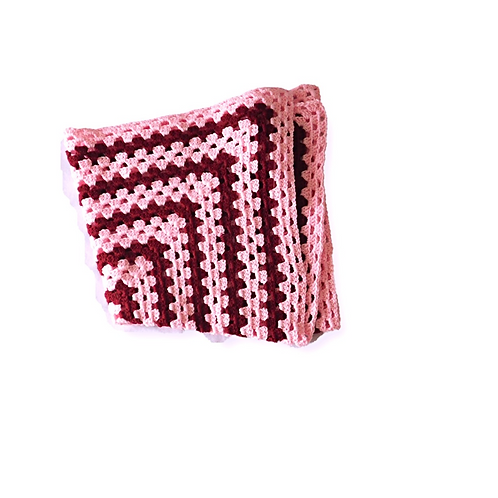 Baby Shades of Pink Crochet Blanket