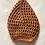 Thumbnail: Crocheted Classic Netted Hair Snood / Hairnet