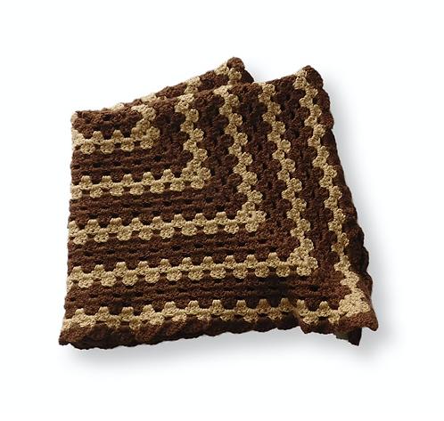 Baby Brown Crochet Blanket