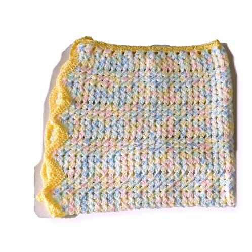 Baby Skittle Crochet Blanket