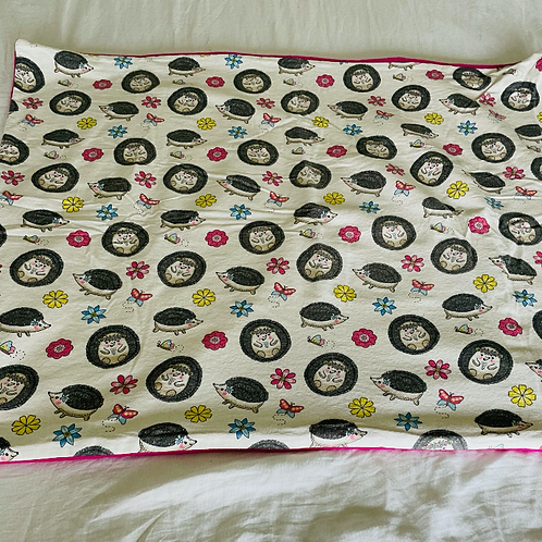 Hedgehog Baby/Toddler Blanket