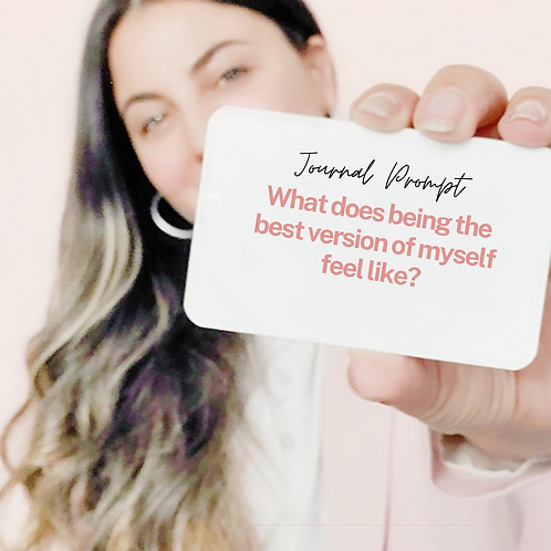 Hey Dreamer Journal Prompt Cards: Self-Discovery Deck