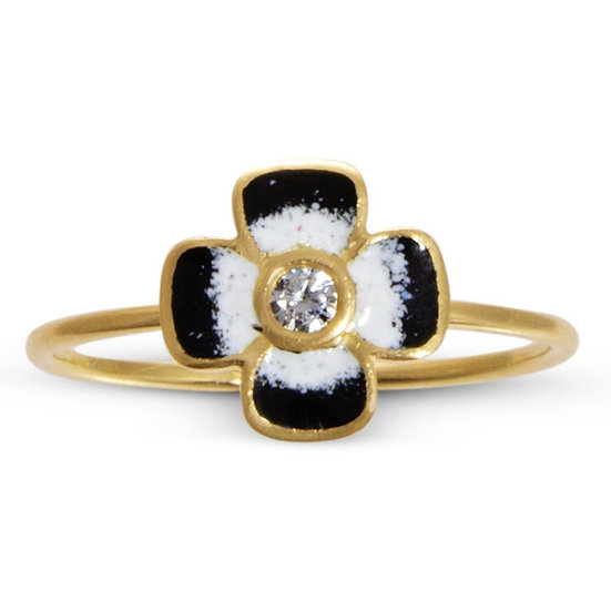Diamond and Enamel Anthea Ring