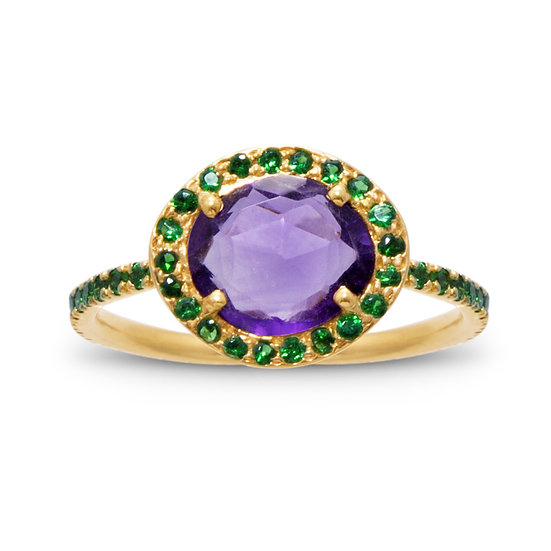 Amethyst and Tsavorite Delilah Ring
