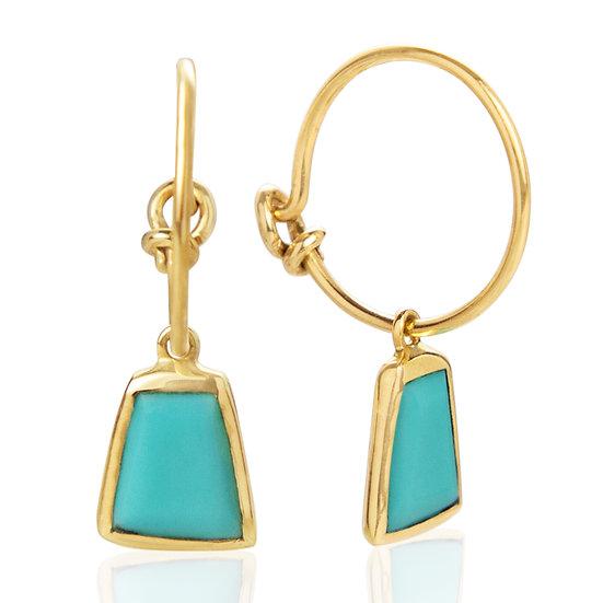 Turquoise Inka Hoop Earrings