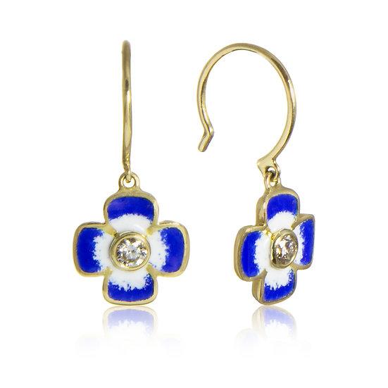 Diamond and Enamel Anthea Earrings