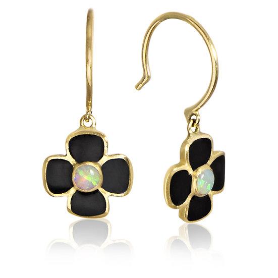 Opal and Enamel Anthea Earrings