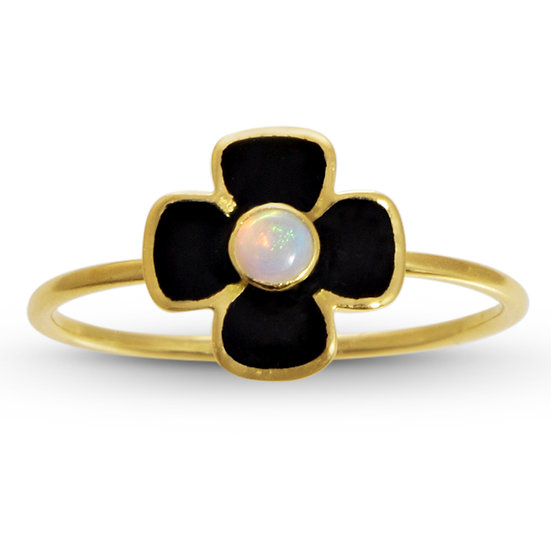 Opal and Enamel Anthea Ring