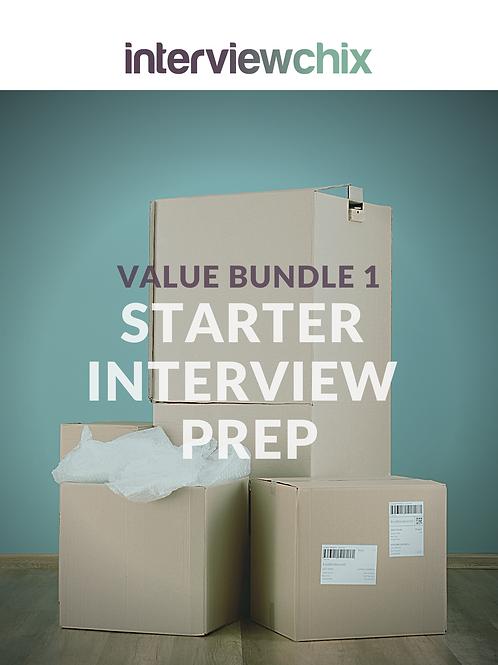Value Bundle 1 - Starter Interview Prep 35% discount