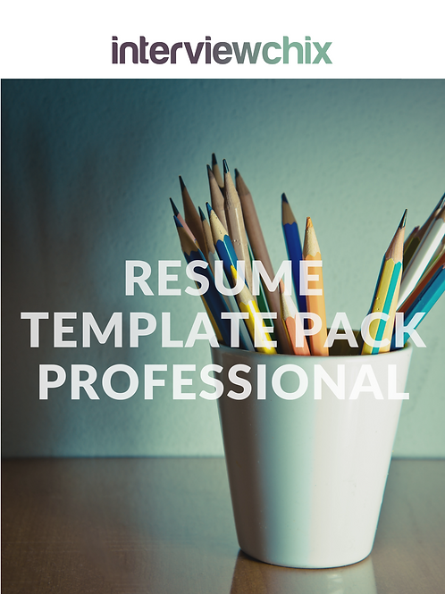 Resume Template Pack - Professional